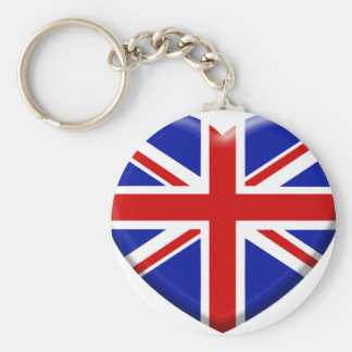 coil England flag Basic Round Button Key Ring
