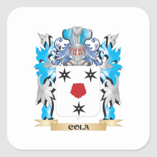 Cola Coat of Arms - Family Crest Square Sticker