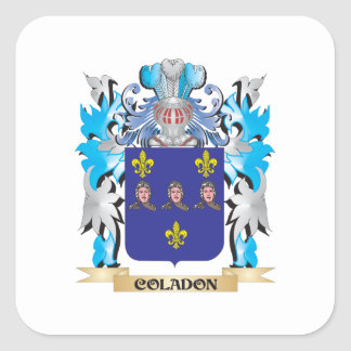 Coladon Coat of Arms - Family Crest Square Sticker