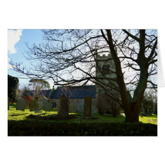 Colan Church Near Newquay Cornwall England Greeting Card