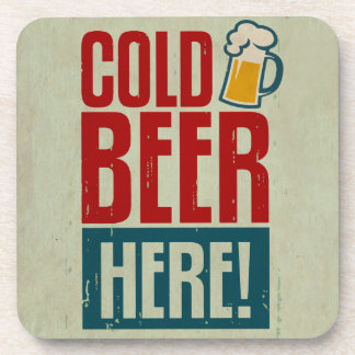 Cold Beer Drink Coasters