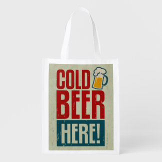 Cold Beer Reusable Grocery Bag