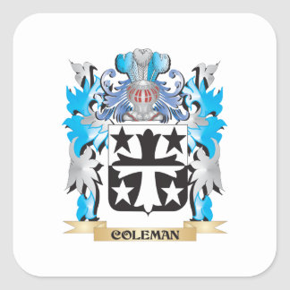 Coleman Coat of Arms - Family Crest Sticker