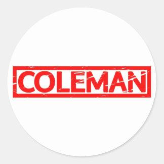 Coleman Stamp Classic Round Sticker