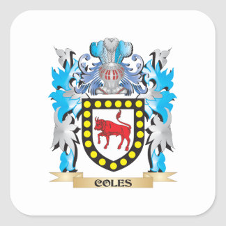 Coles Coat of Arms - Family Crest Stickers