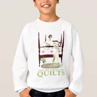 Coles Phillips Fadeaway - Ask Me About My Quilts Sweatshirt