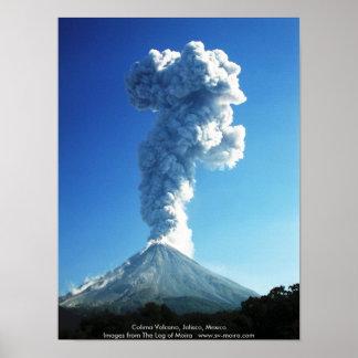 Colima Volcano, Jalisco, Mexico Posters