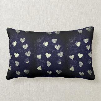 Collage hearts grunge lumbar cushion