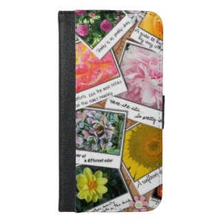 Collage of Flowers iPhone 6/6s Plus Wallet Case