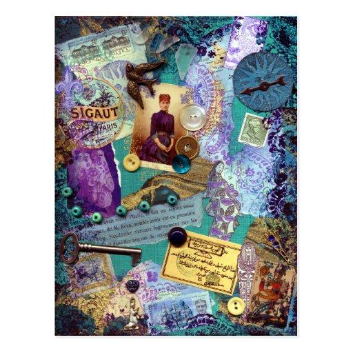 Collaged Postcard - Souvenirs