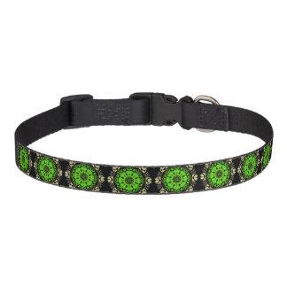 Collar Reason Green Kaleidoscope on Black