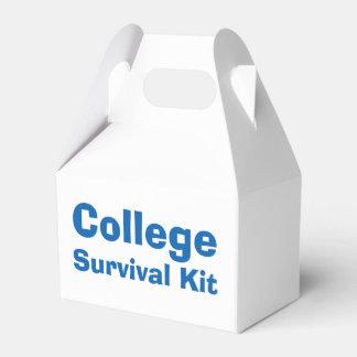 """""""College"""" Survival Kit Box Party Favour Boxes"""