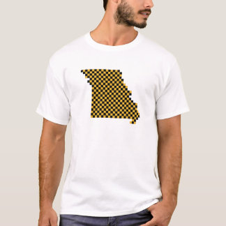 Collegiate Black and Gold Pixel Missouri T-Shirt