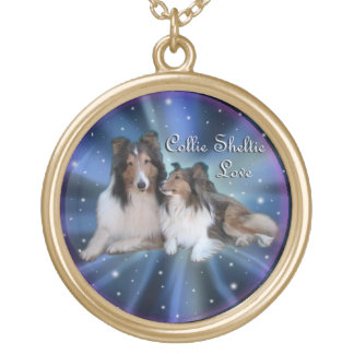 Collie Sheltie Love Necklace
