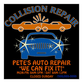 Collision Auto Repair Business Poster