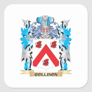 Collison Coat of Arms - Family Crest Square Sticker