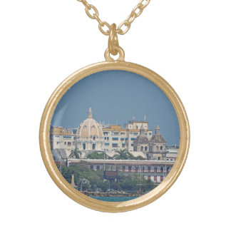 Colombia-Cartagena Waterfront Gold Plated Necklace