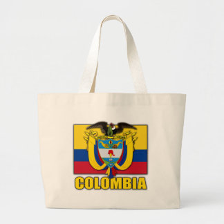 Colombia Coat of Arms Large Tote Bag