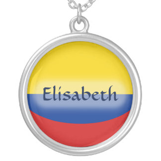 Colombia Flag + Name Necklace