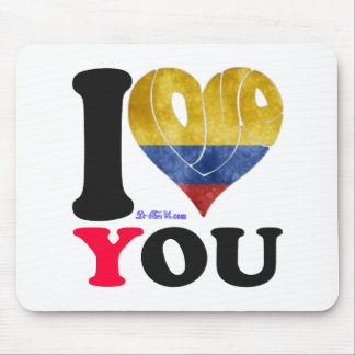 COLOMBIA FLAGS I LOVE YOU CUSTOMIZABLE PRODUCTS MOUSE PAD