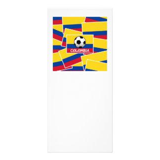 Colombia Football 10 Cm X 23 Cm Rack Card
