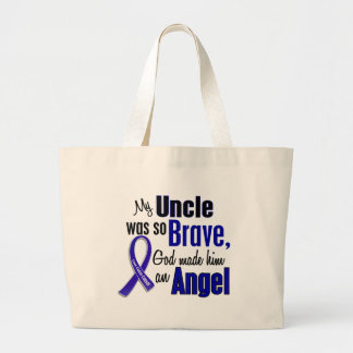 Colon Cancer ANGEL 1 Uncle Tote Bags