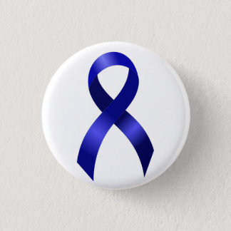 Colon Cancer Blue Ribbon 3 Cm Round Badge