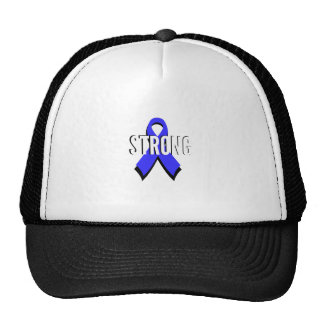 Colon Cancer Blue Ribbon Strong Hat