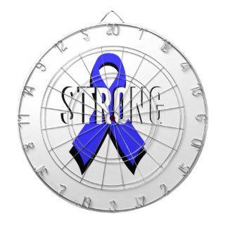 Colon Cancer Blue Ribbon Strong Dartboard