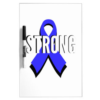 Colon Cancer Blue Ribbon Strong Dry-Erase Boards