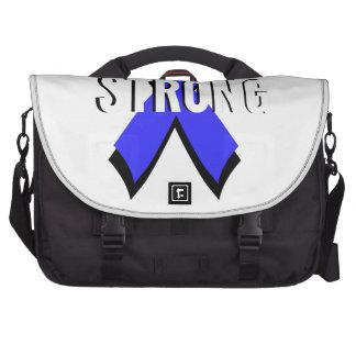 Colon Cancer Blue Ribbon Strong Laptop Commuter Bag