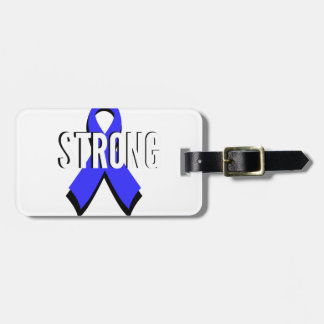 Colon Cancer Blue Ribbon Strong Tag For Bags