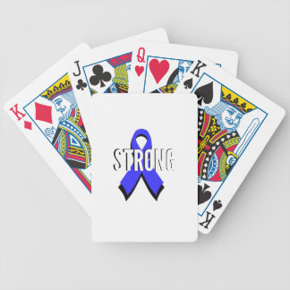 Colon Cancer Blue Ribbon Strong Bicycle Playing Cards
