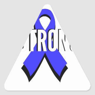 Colon Cancer Blue Ribbon Strong Triangle Sticker