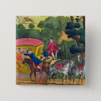 Colonel Jack robbing Mary Smith in Maidenhead Thic 15 Cm Square Badge