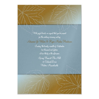 Colonial Breeze Custom Autumn Wedding Invitations