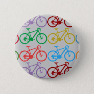 color bicycles 6 cm round badge