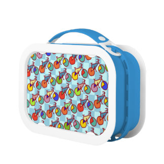 color bike pattern lunch box