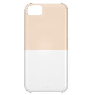 Color Block -Linen Pink + White- iPhone 5C Case