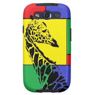 Color Blocked Giraffe - Samsung Galaxy S3 Case Samsung Galaxy SIII Covers