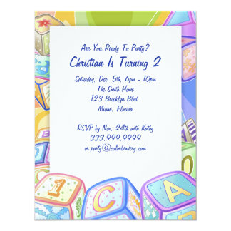 Color Blocks 4.25 x 5.5 Inch Invitation