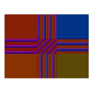 Color Blocks Abstract Postcard
