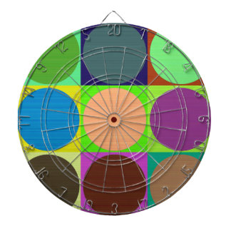 Color Circles in Squares Dart Board