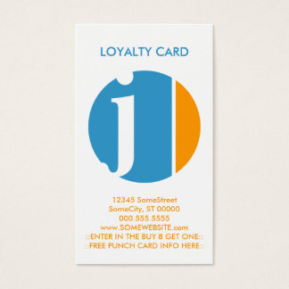 color crush loyalty stamp business card