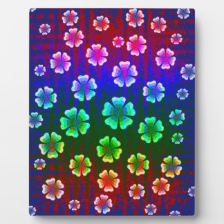 color flowers display plaque