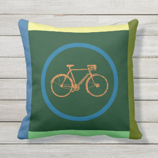 color geometric bicycle pillow