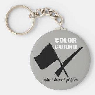 Color Guard Spin Dance Perform Button Keychain