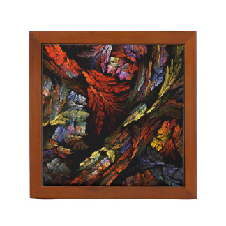 Color Harmony Abstract Art Desk Organiser