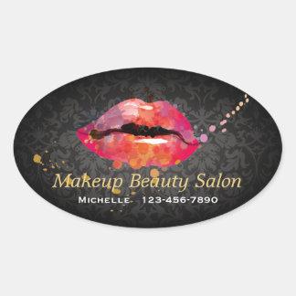 Color Lips Makeup Beauty Salon Business Sticker