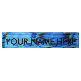 COLOR ME BLUE (an abstract art design) ~ Nameplate